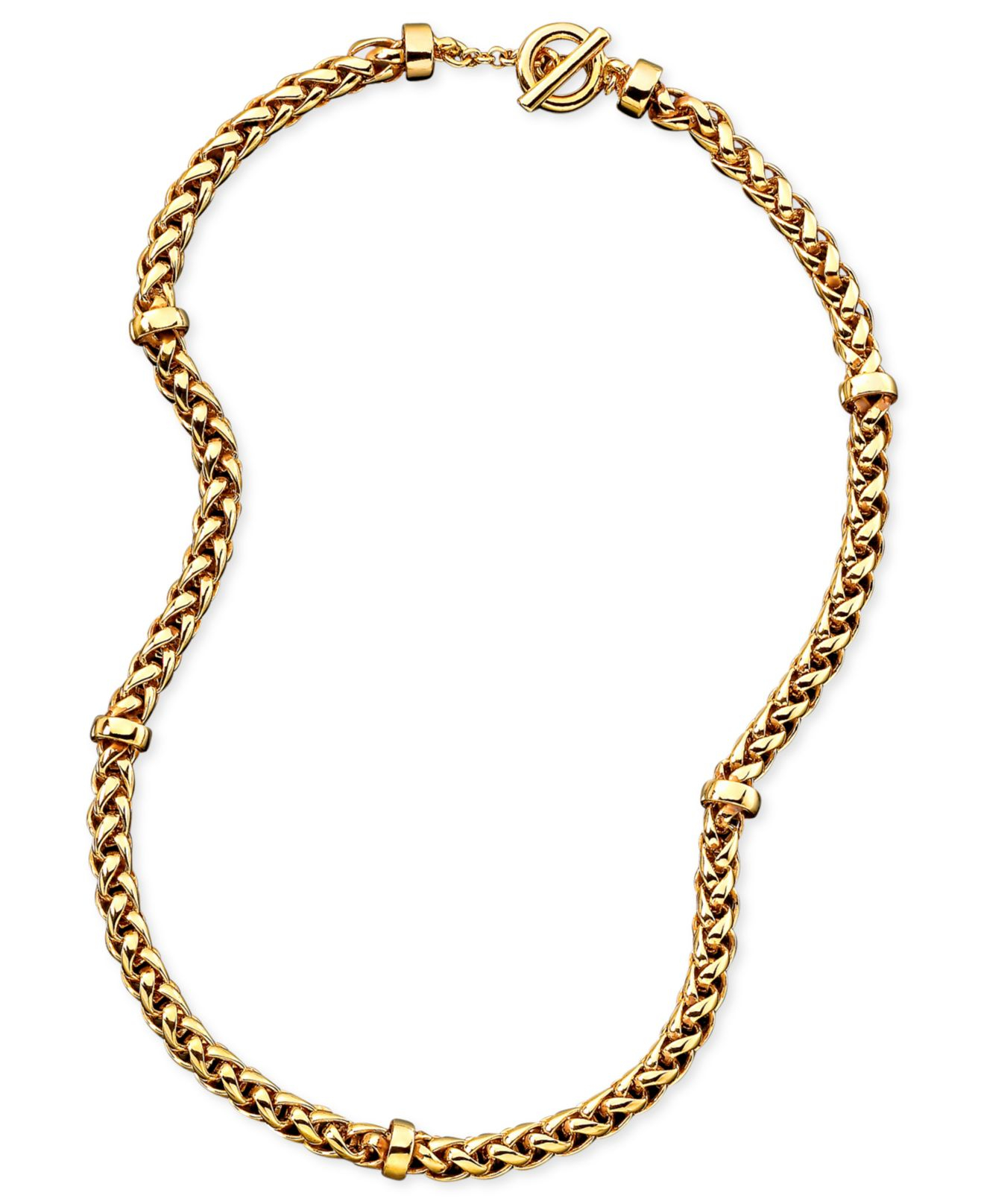Ralph Lauren Lauren By Braided Chain Necklace 18quot In Gold