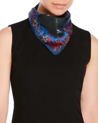 Christian lacroix Woven Silk Printed Scarf in Blue | Lyst