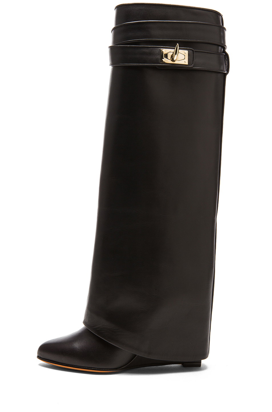 Givenchy Shark Lock Tall Leather Pant Boots In Black Lyst