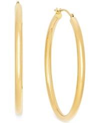 Macy's Polished Hoop Earrings In 10k Gold in Metallic ...
