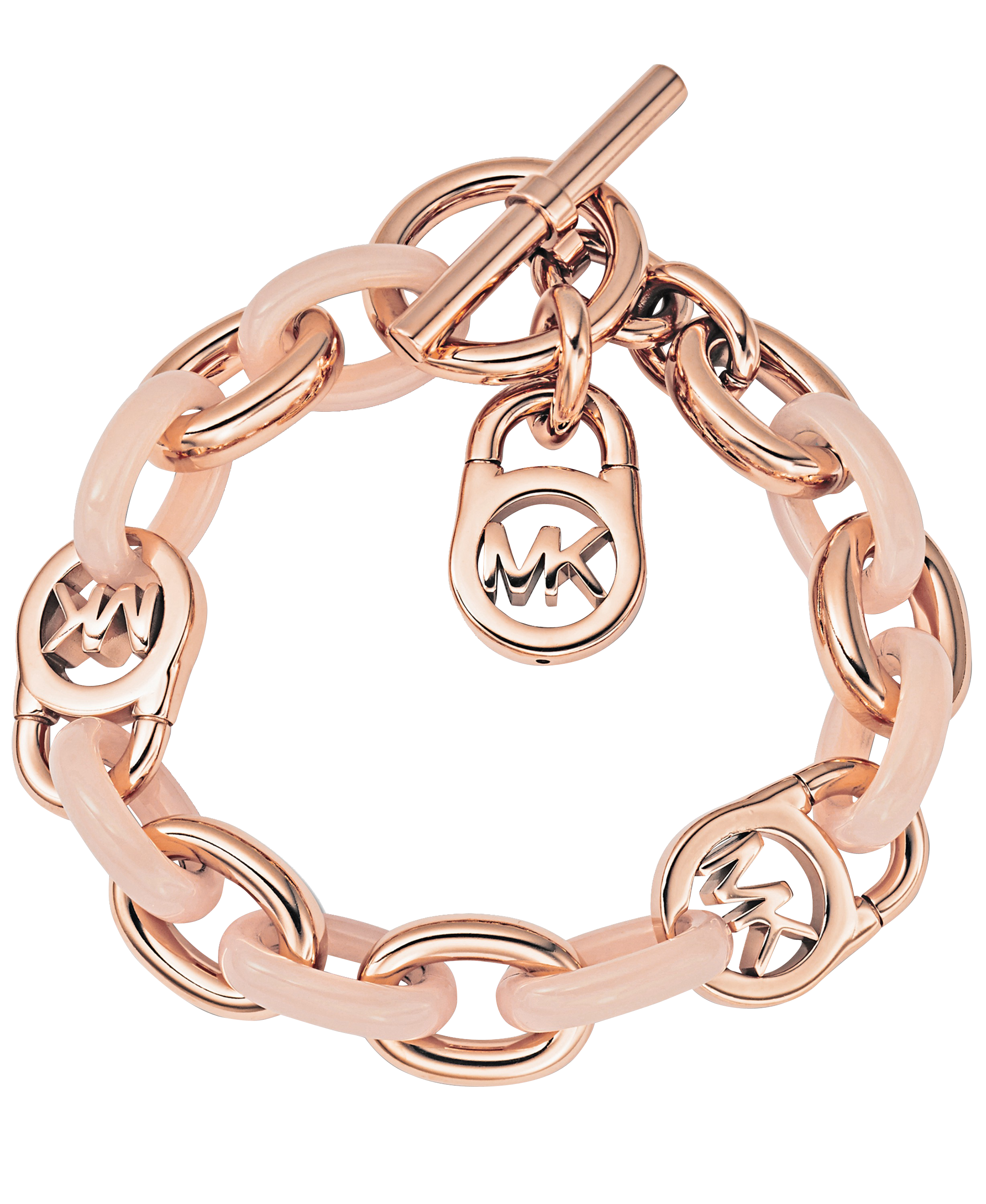 Rose Gold Armband Lyst Michael Michael Kors Armband Rose Gold Blush In Metallic