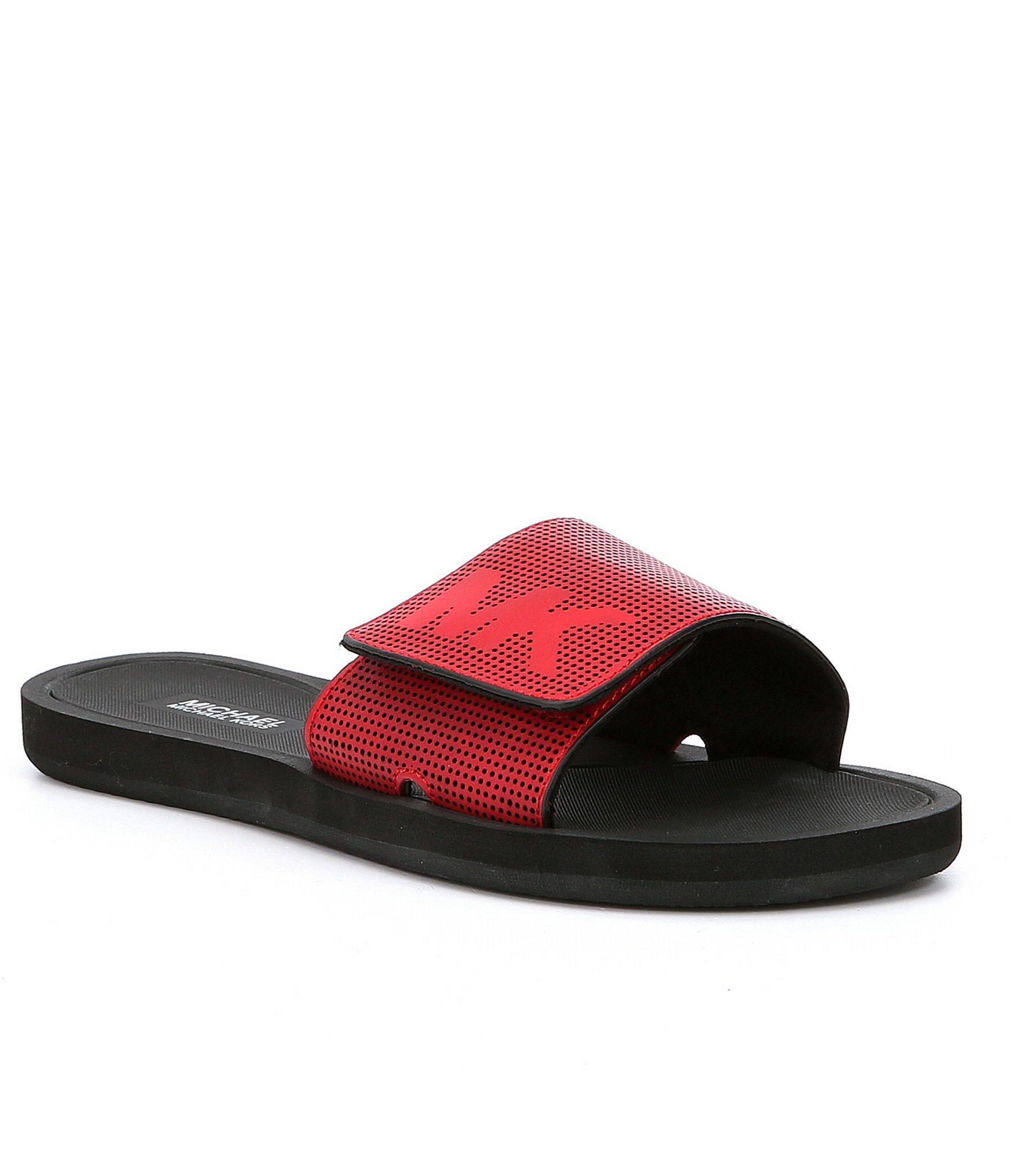 Forzieri Hogan Lyst - Michael Michael Kors Mk Slides Sandals In Red