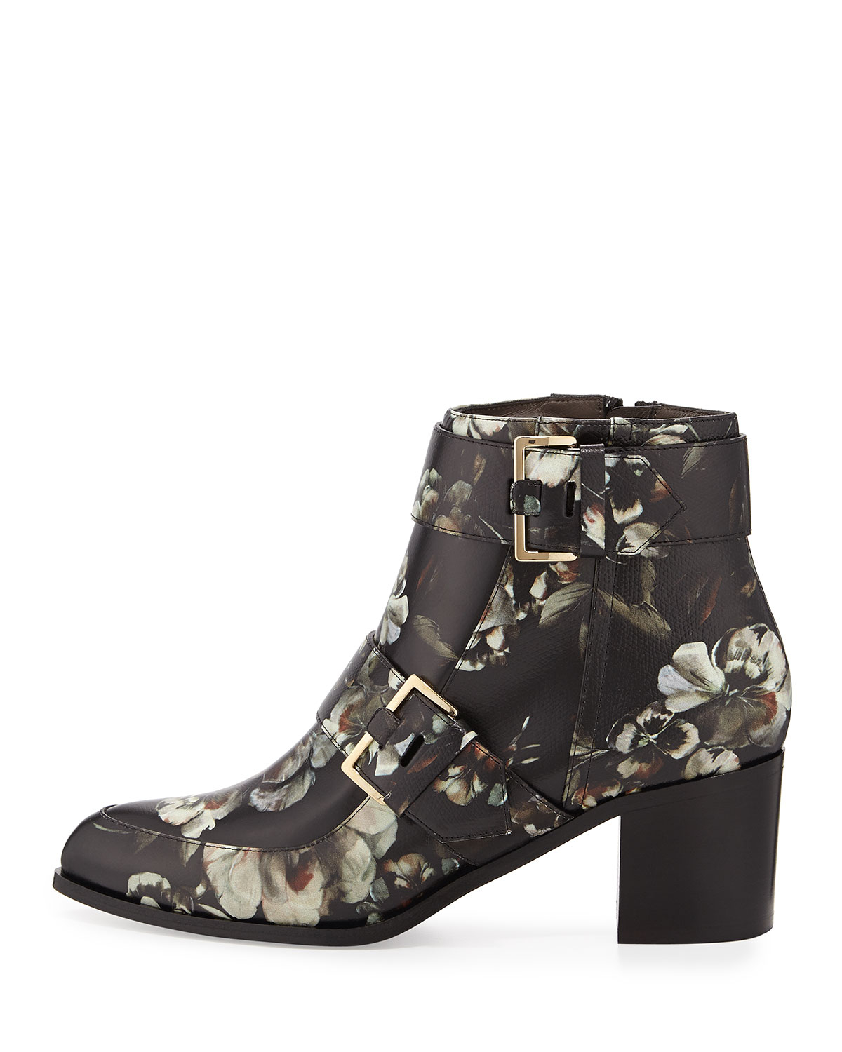 Lyst Jason Wu Floral Printed Leather Boot