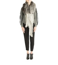 Yigal azroul Fox Fur Scarf in Gray | Lyst