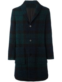 Lyst - Carven 'long Shawl Collar' Coat in Blue for Men