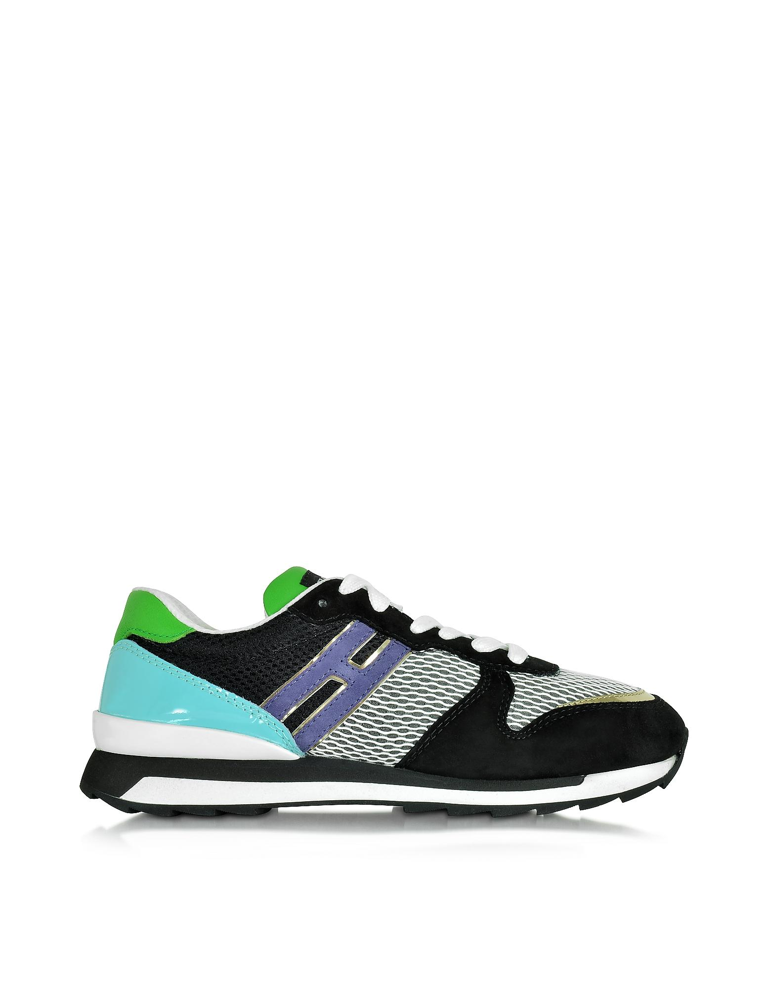 Forzieri Hogan Lyst Hogan Rebel R261 Multicolor Leather And Suede Sneaker