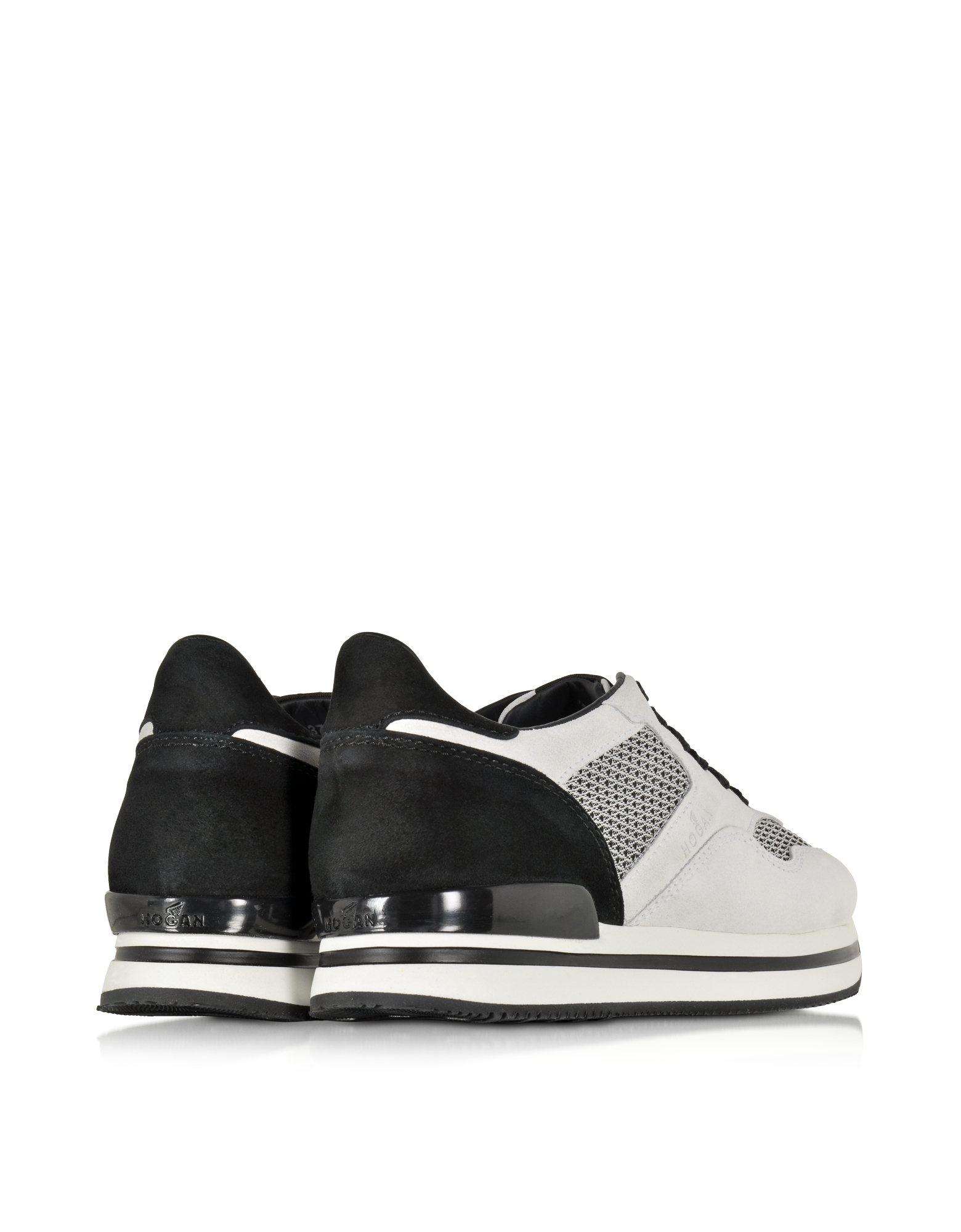 Forzieri Hogan Lyst Hogan Black And Off White Suede Sneaker In Black