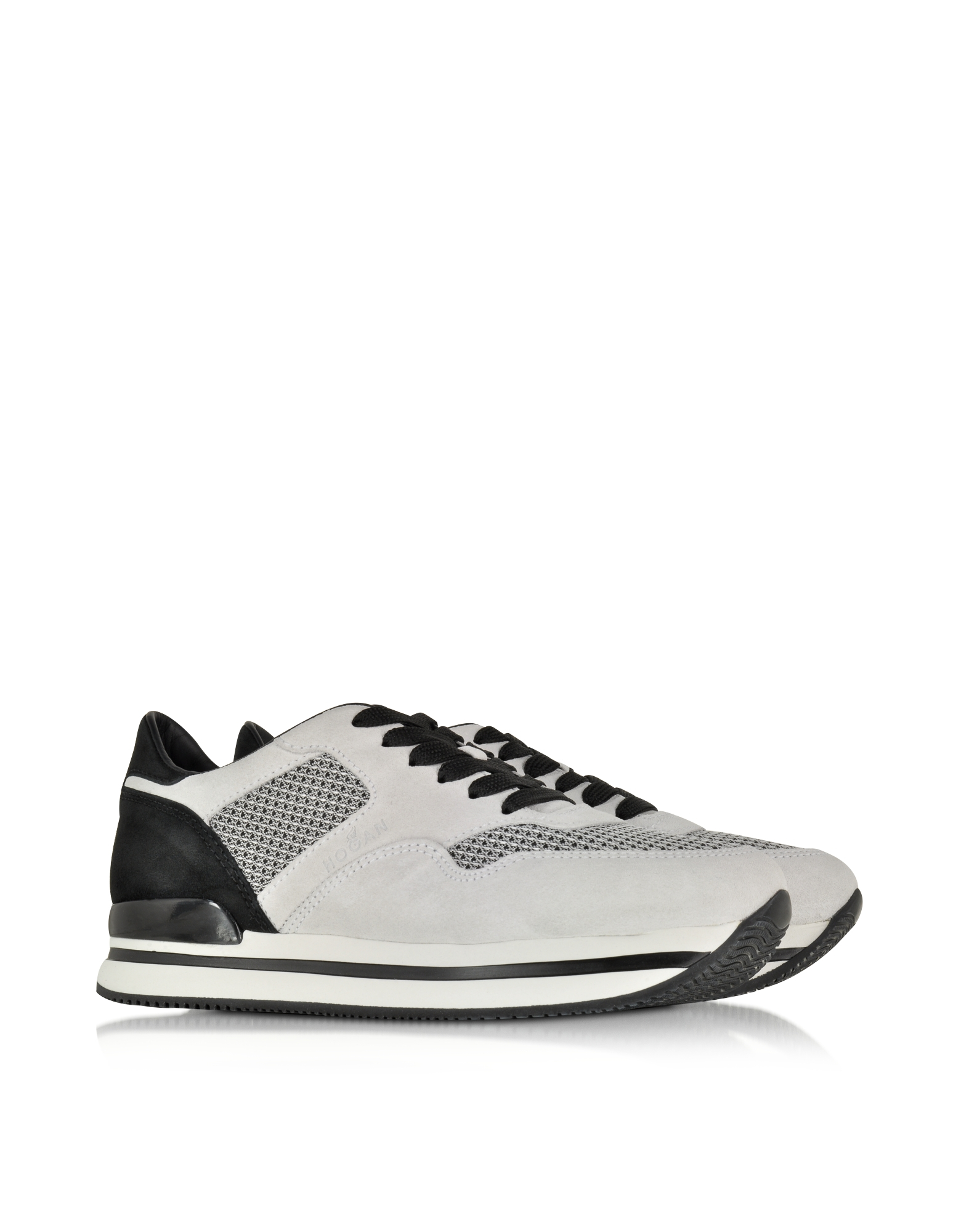 Forzieri Hogan Hogan Black And Off White Suede Sneaker In Black Lyst
