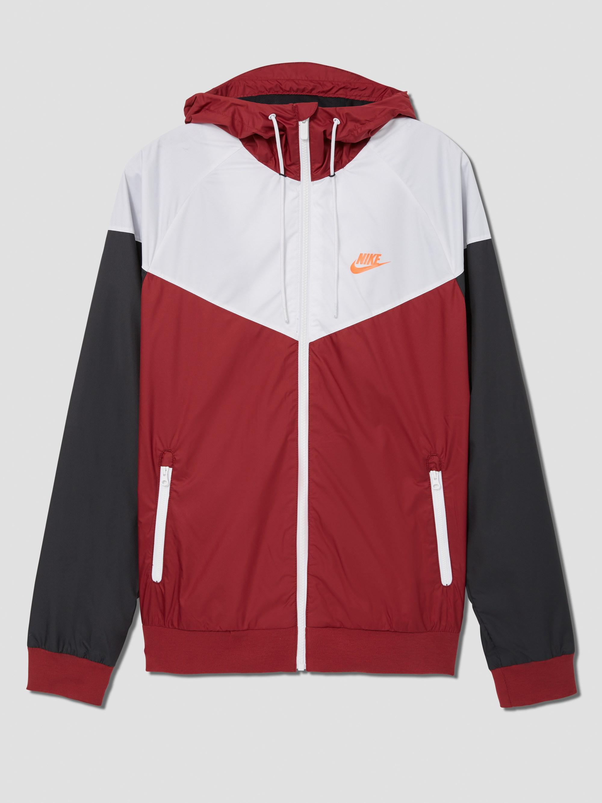 3be3961204 Lyst Frank And Oak Nike Sportswear Windrunner Jacket In Red In