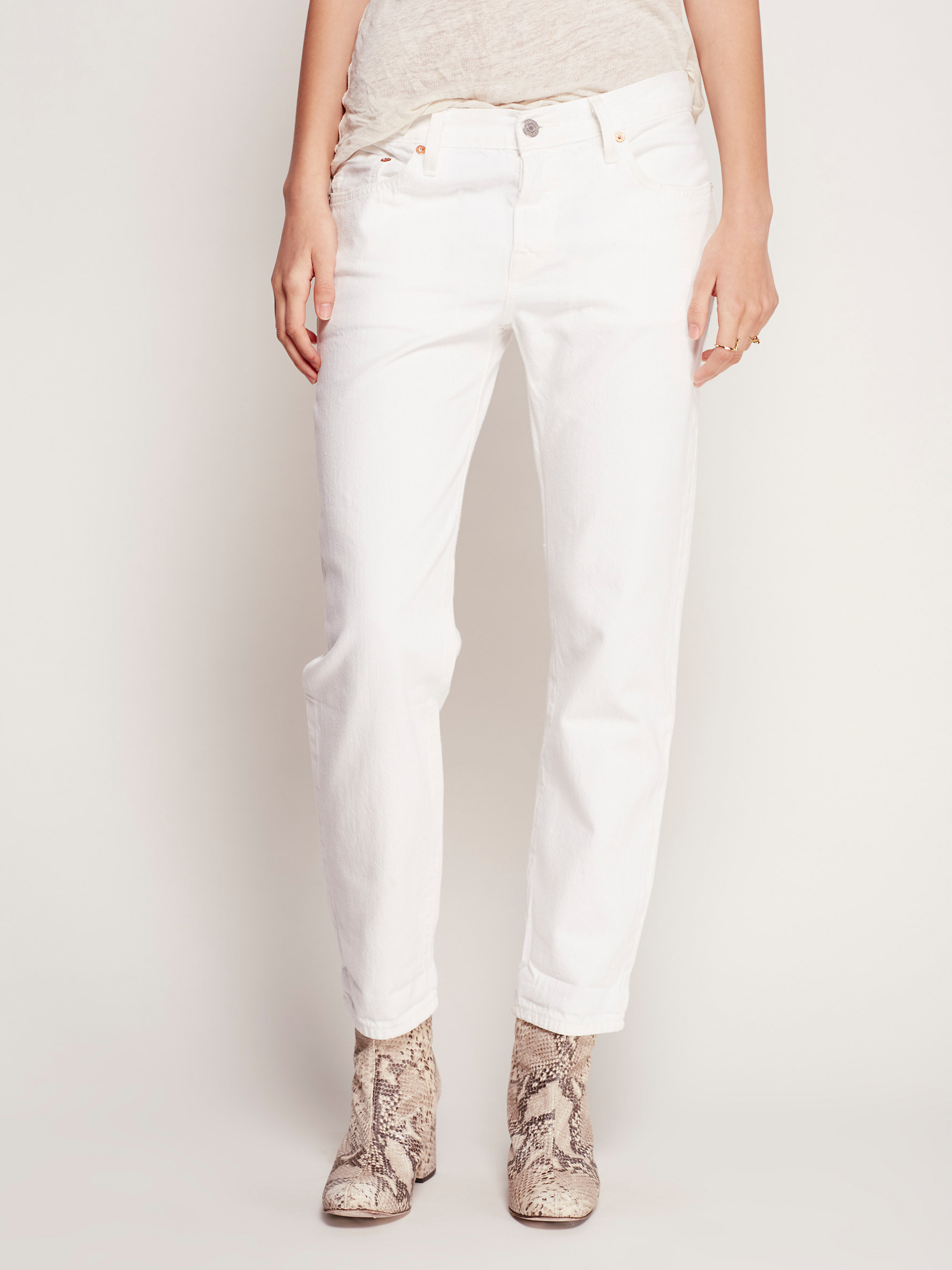 501 Ct Jean Levi Lyst - Free People Levi's 501 Ct Jean In White