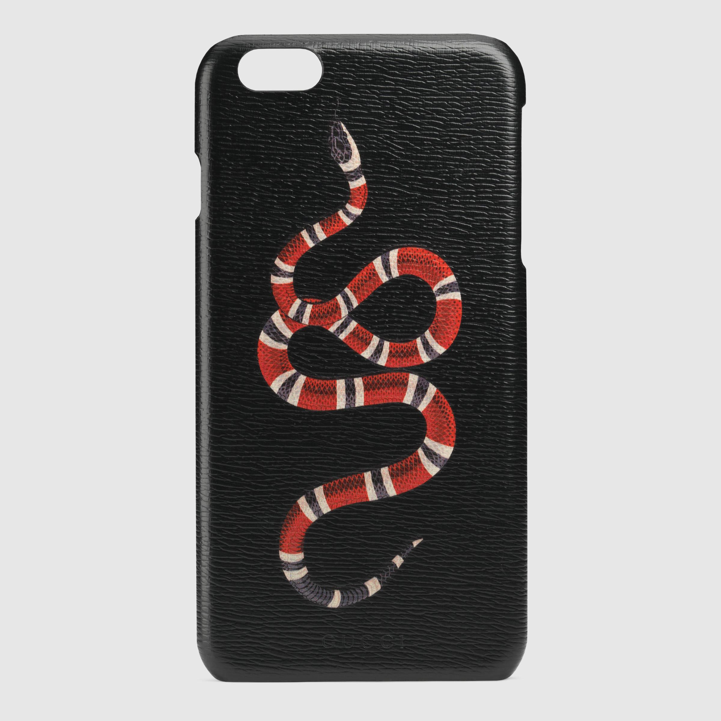 Gucci snake print iphone 6 plus case in black lyst
