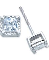 Macy's Diamond Stud Earrings (1/2 Ct. T.w.) In 14k White ...