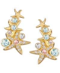 Swarovski Gold-tone Starfish Gold-tone Crystal Starfish ...