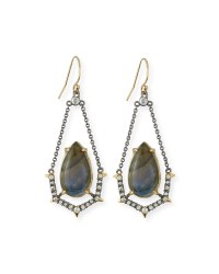 Alexis bittar Labradorite & Crystal Spike Drop Earrings in ...