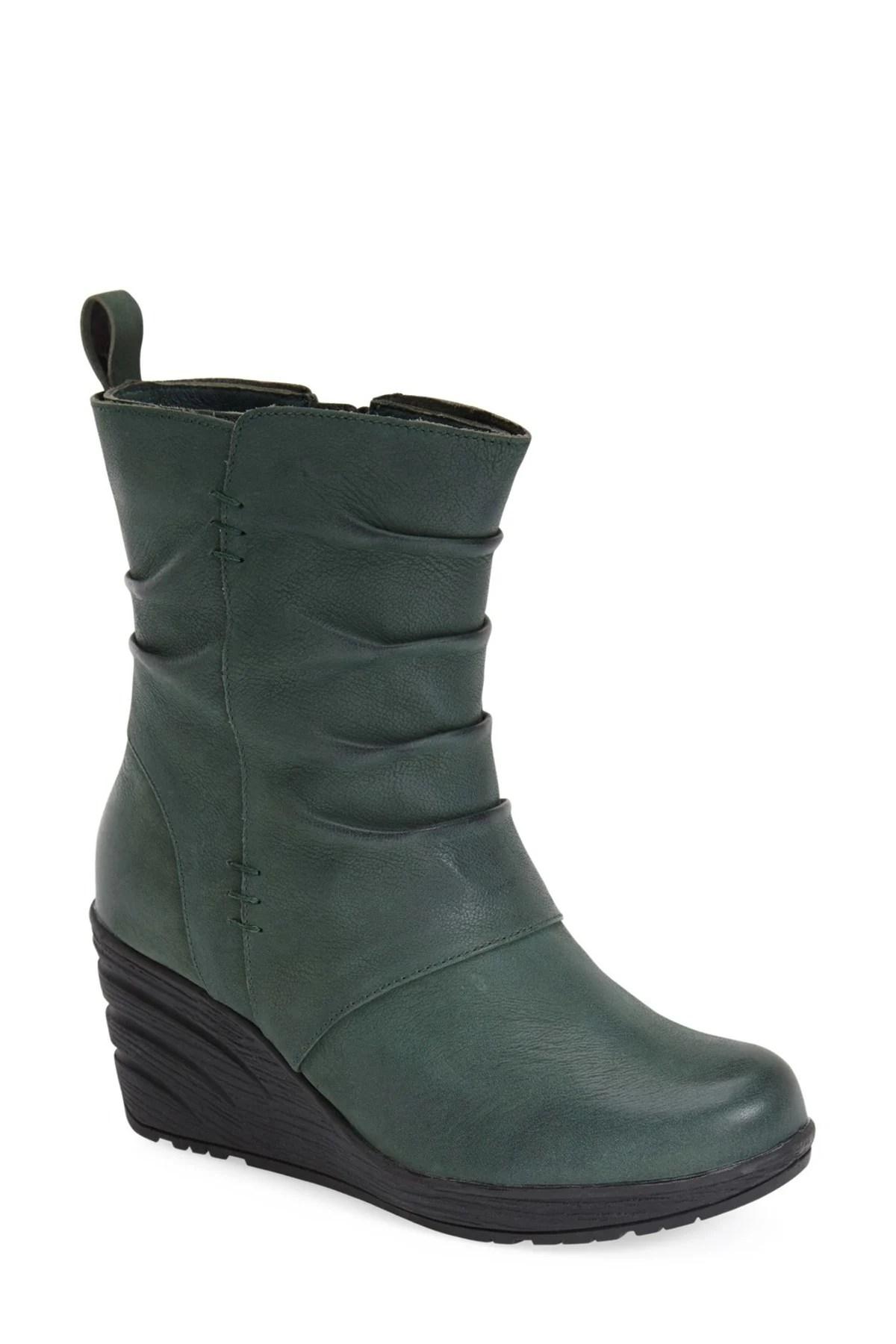 Lyst Miz Mooz Tora Wedge Boot In Green