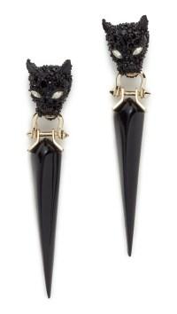 Alexis Bittar Crystal Encrusted Dangling Panther Earrings ...