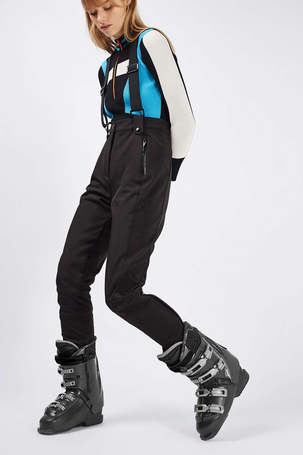 Jacket Ski Pants Lyst - Topshop Skinny Fitted Salopettes By Sno In Black