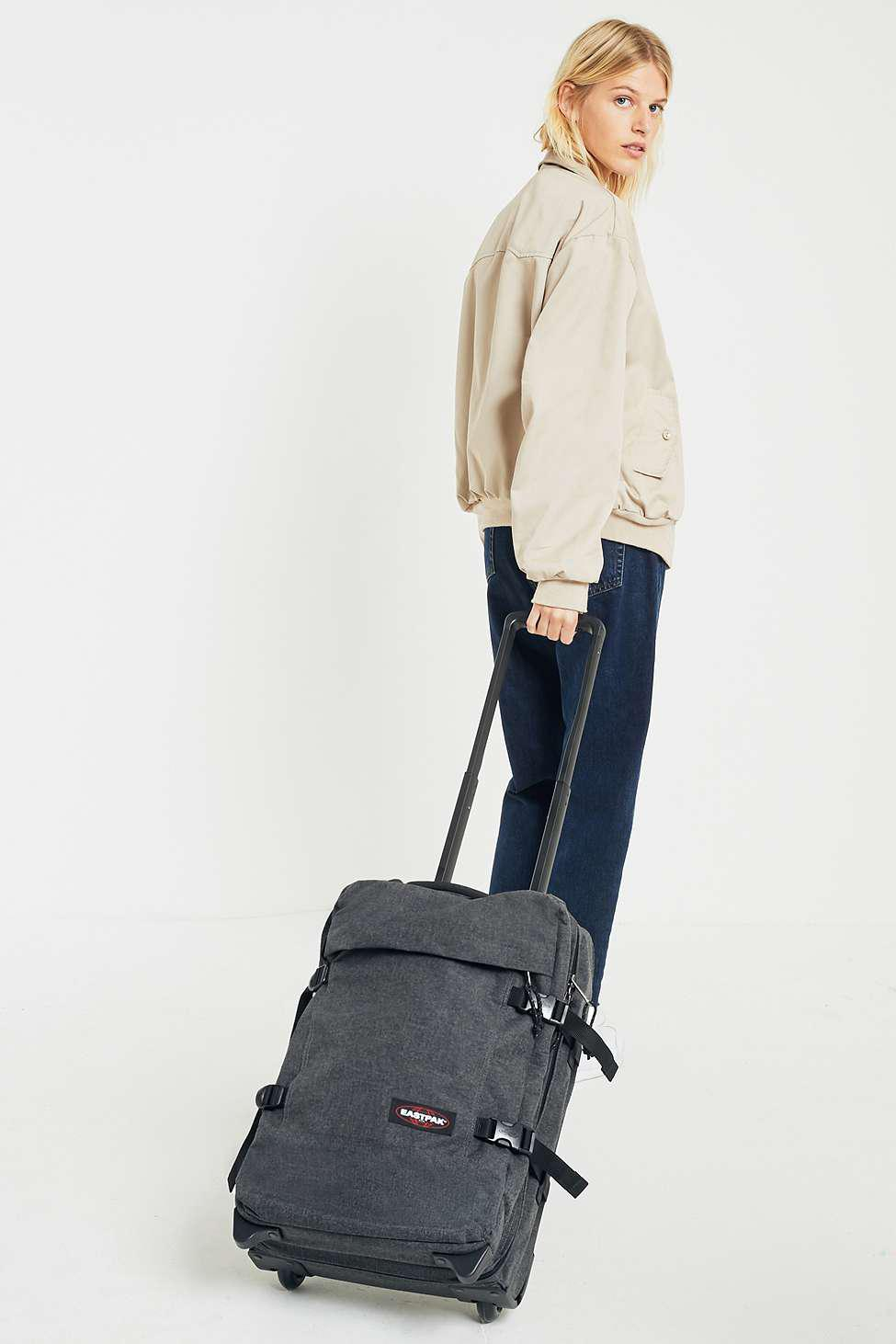 Eastpak Tranverz S Eastpak Tranverz S Black Denim Luggage Womens All In Black Lyst