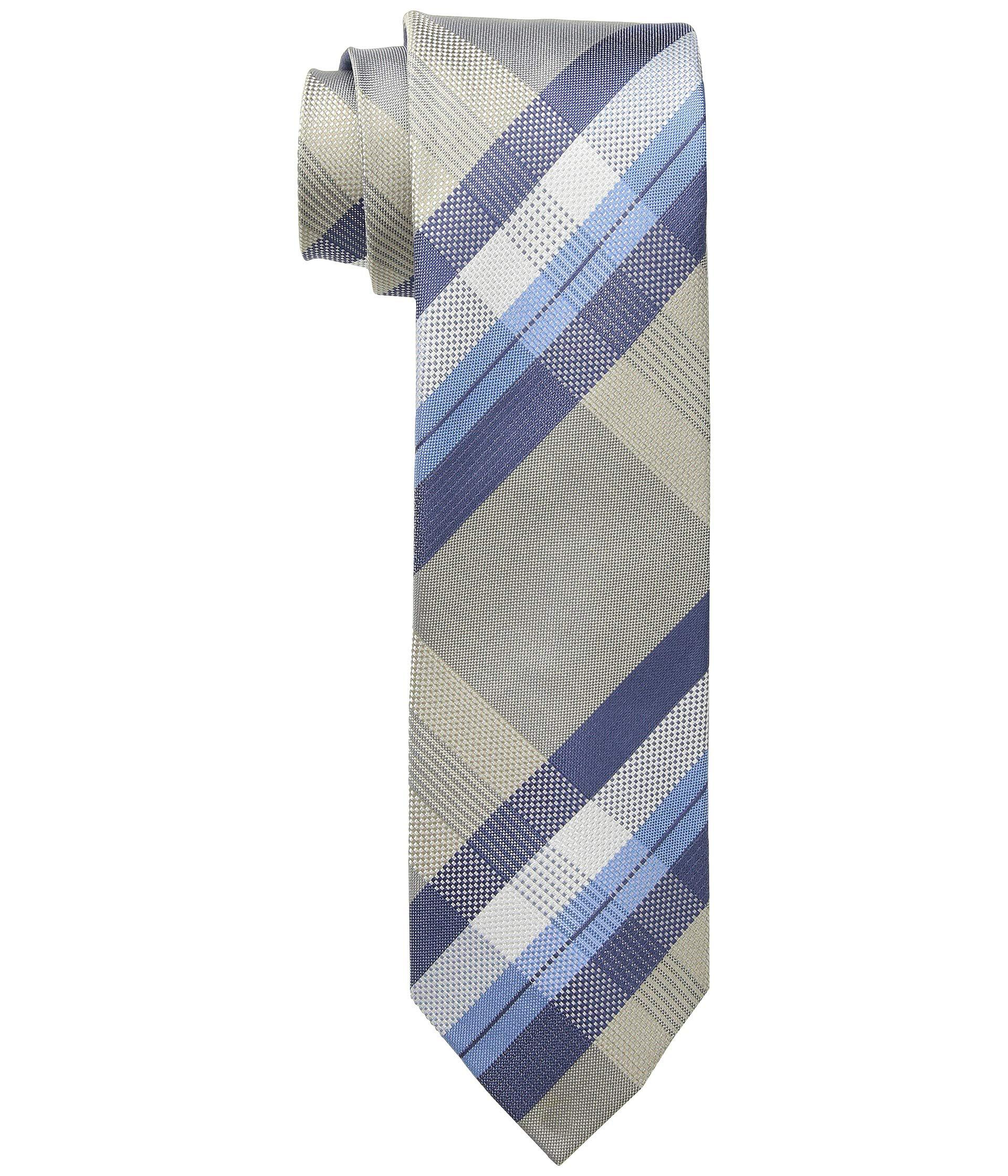 Plaid Taupe Kenneth Cole Reaction Orchestra Plaid Pink Ties In Blue For Men