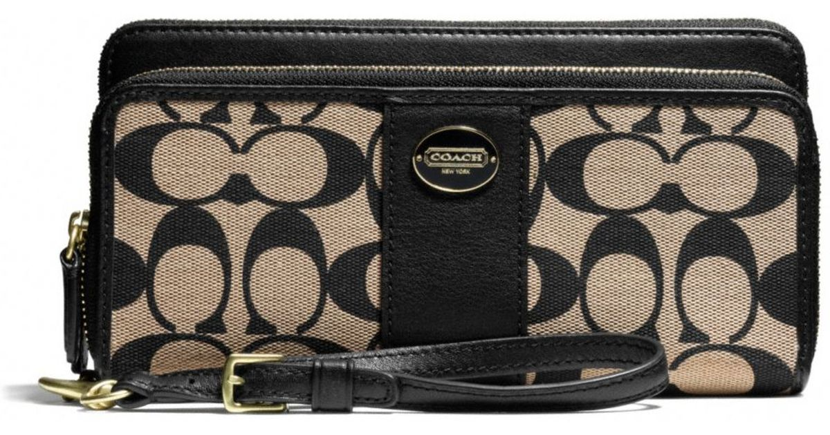 Where To Buy Coach Signature Double Zip Wallet 50aa5 Da997