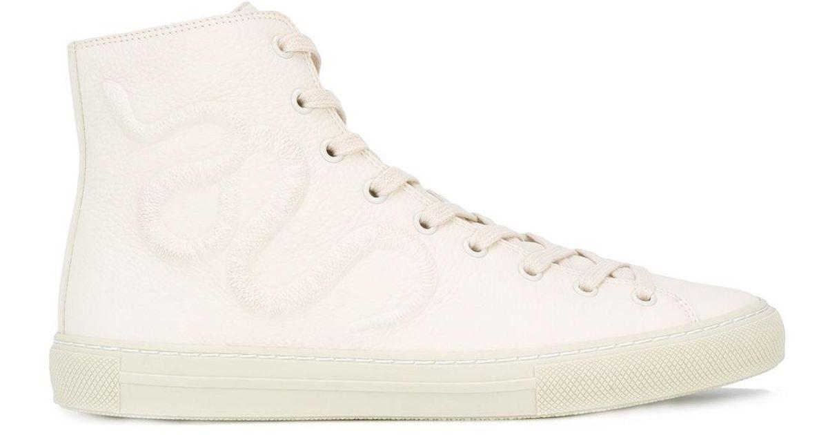 Lyst Gucci Kingsnake Hi Top Sneakers In White