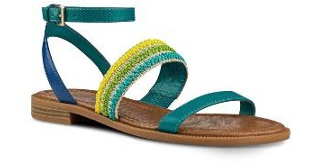 Lyst Nine West Xenosa Ankle Strap Sandal In Blue