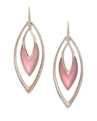 Alexis bittar Lucite Orbit Marquis Drop Earrings in Pink ...