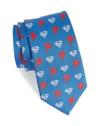 Cufflinks inc. 'superman' Silk Tie in Blue for Men | Lyst
