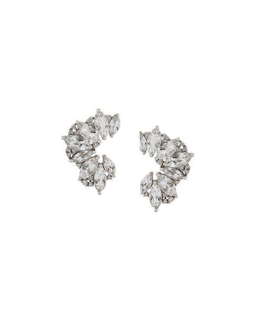 Elise dray Topaz & Diamond Earrings in Metallic