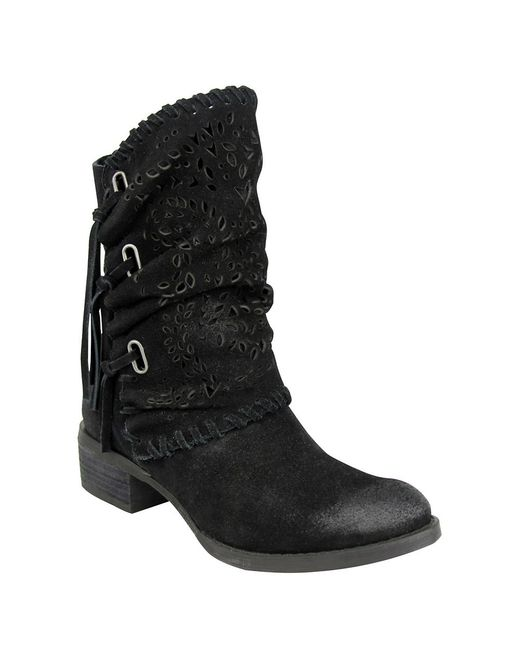 Naughty Monkey Vamp Phyer Suede Boots In Black Lyst