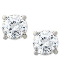 Macy's Certified Diamond Stud Earrings (1-1/2 Ct. T.w.) In ...