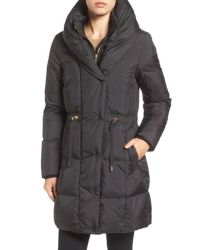 Cole haan Shawl Collar Down Coat in Black