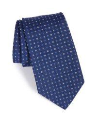 Lyst - Gitman Brothers Vintage Geometric Silk Tie in Blue ...