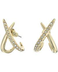 Alexis bittar Crystal Encrusted X Huggie Post Earrings in ...