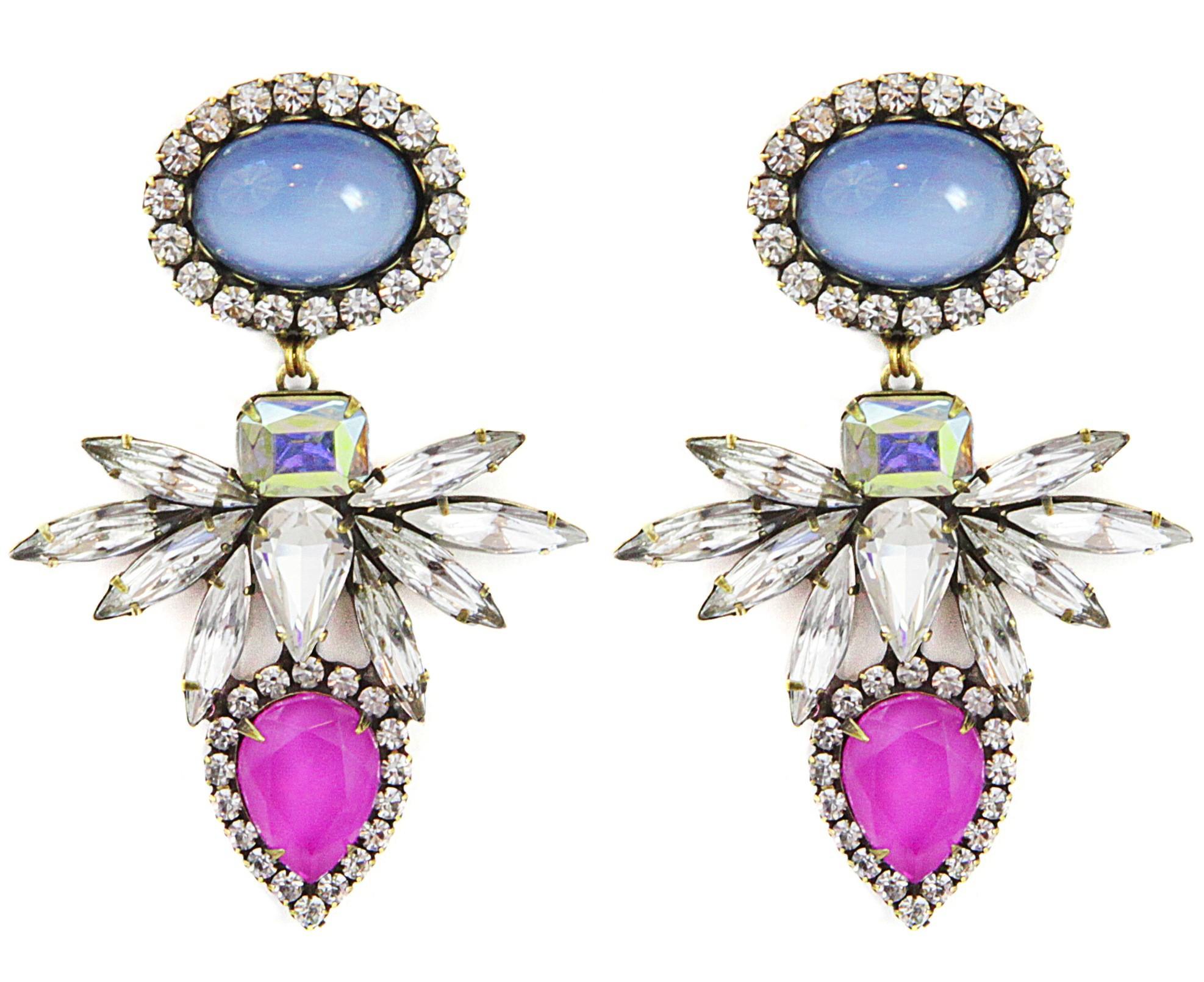 Loren hope Tessie Earrings Bloom in Blue