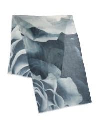 Yarnz Silk And Cashmere Scarf in White - Lyst