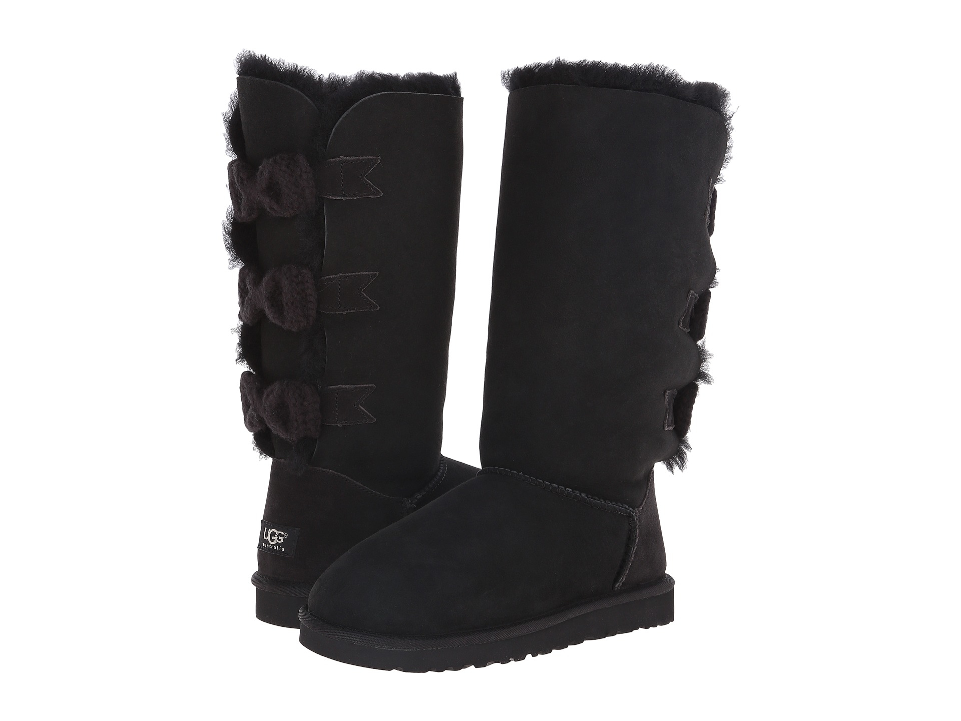 Ugg Tall Bailey Knit Bow In Black Lyst