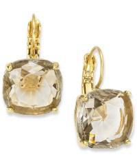 Lyst - Kate Spade New York 12K Gold-Plated Black Diamond ...