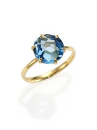 Ippolita Rock Candy London Blue Topaz & 18k Yellow Gold ...