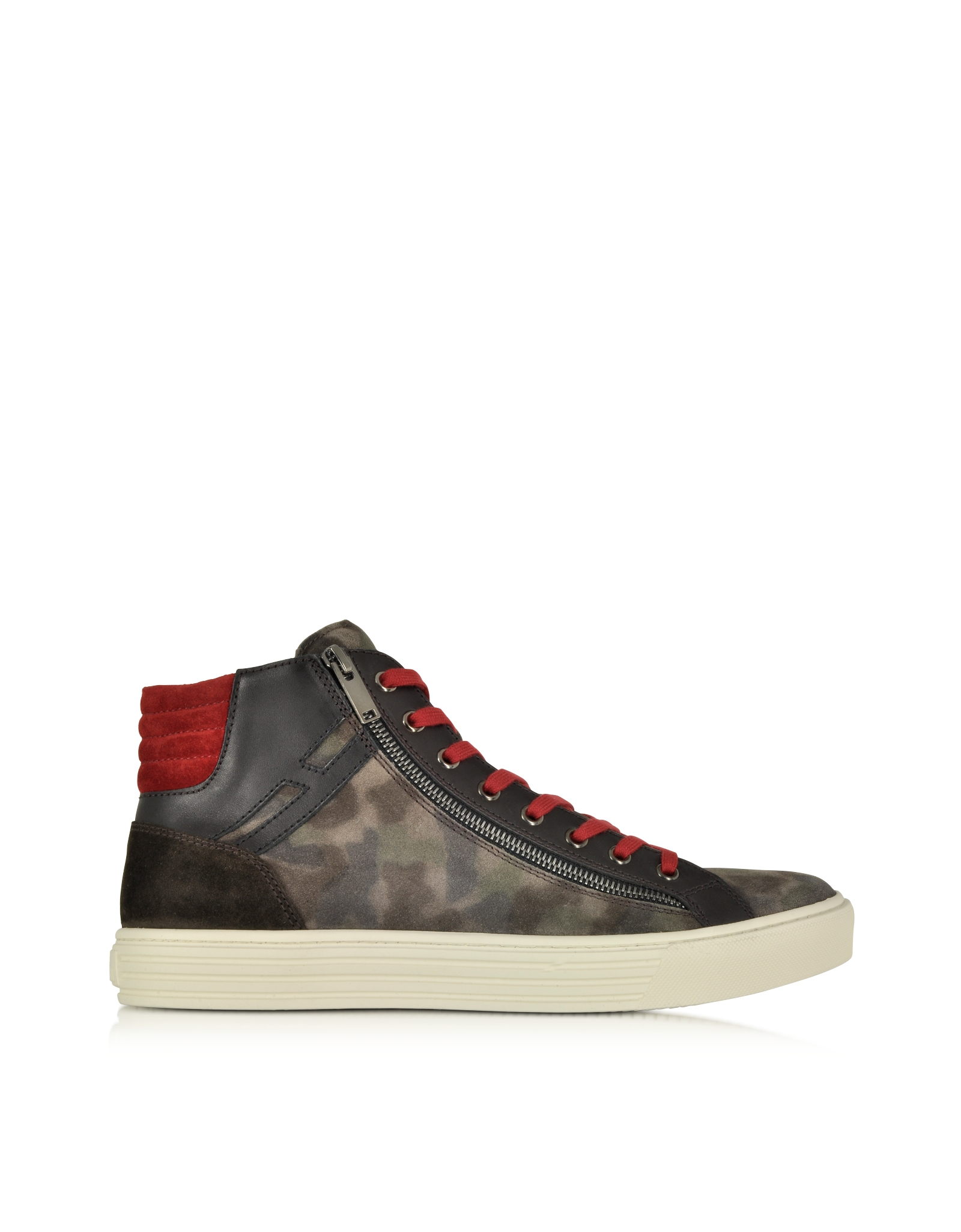 Forzieri Hogan Lyst Hogan Rebel Multicolor Leather And Suede High Top