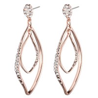 Alexis Bittar Rose Gold Linear Orbiting Post Earring in ...