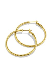 David yurman Cable Classics Hoop Earrings In Gold in ...
