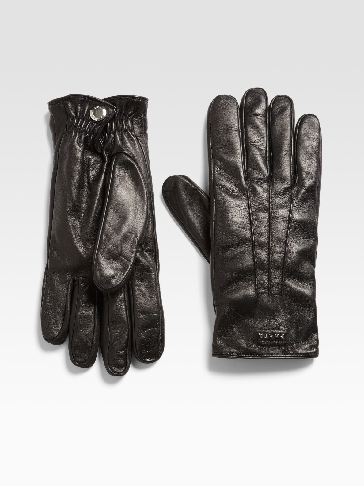Prada nappa leather gloves lyst