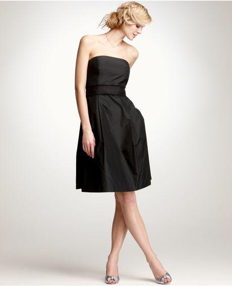 Ann Taylor Silk Taffeta Strapless Bridesmaid Dress in