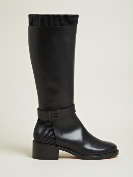 Givenchy Givenchy Womens Calf Leather Long Boots In Black