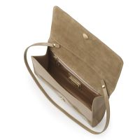 L.k.bennett Frome Patent Letaher Clutch Bag in Natural | Lyst