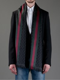 Gucci Print Scarf in Black for Men   Lyst