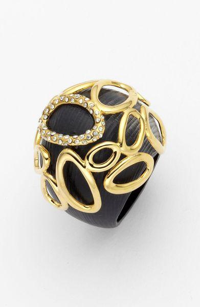 Alexis Bittar Modular Dome Ring in Black