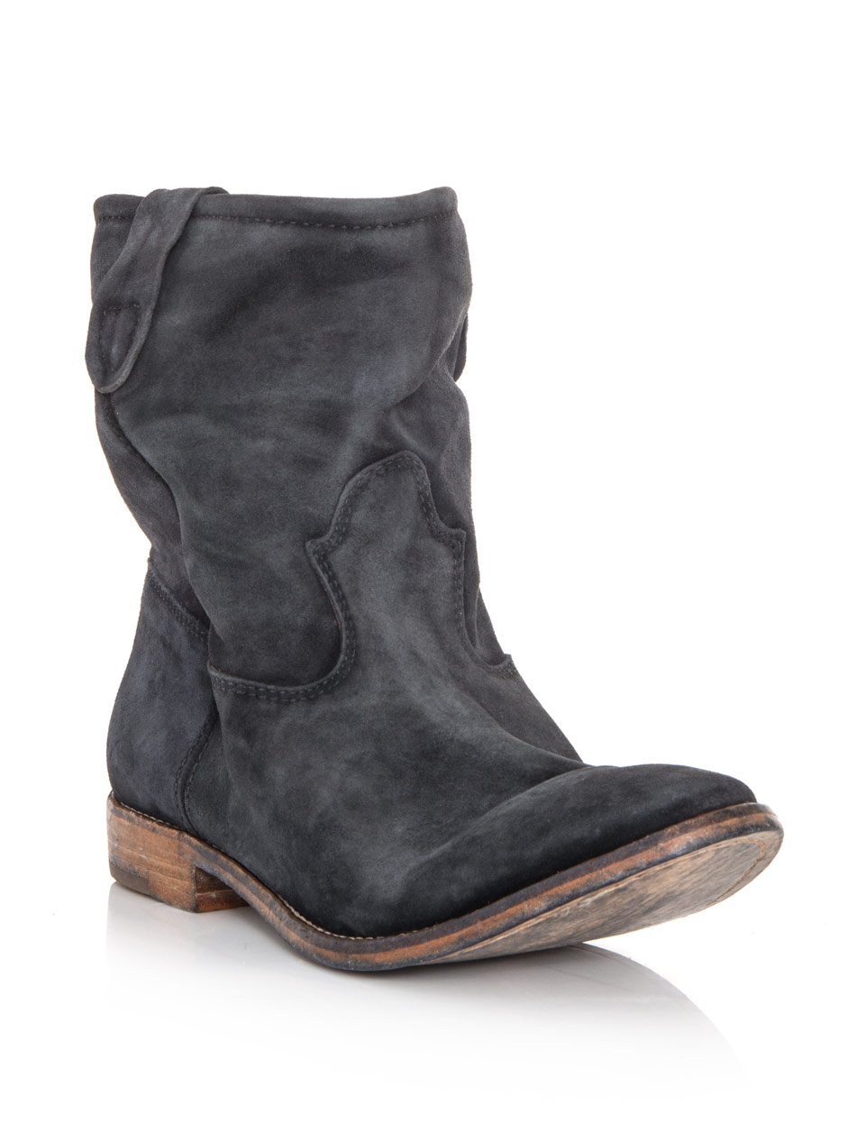 Isabel Marant Jenny Suede Boots In Gray Charcoal Lyst