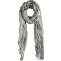 John varvatos Coal Dyed Crinkle Scarf in Gray for Men | Lyst